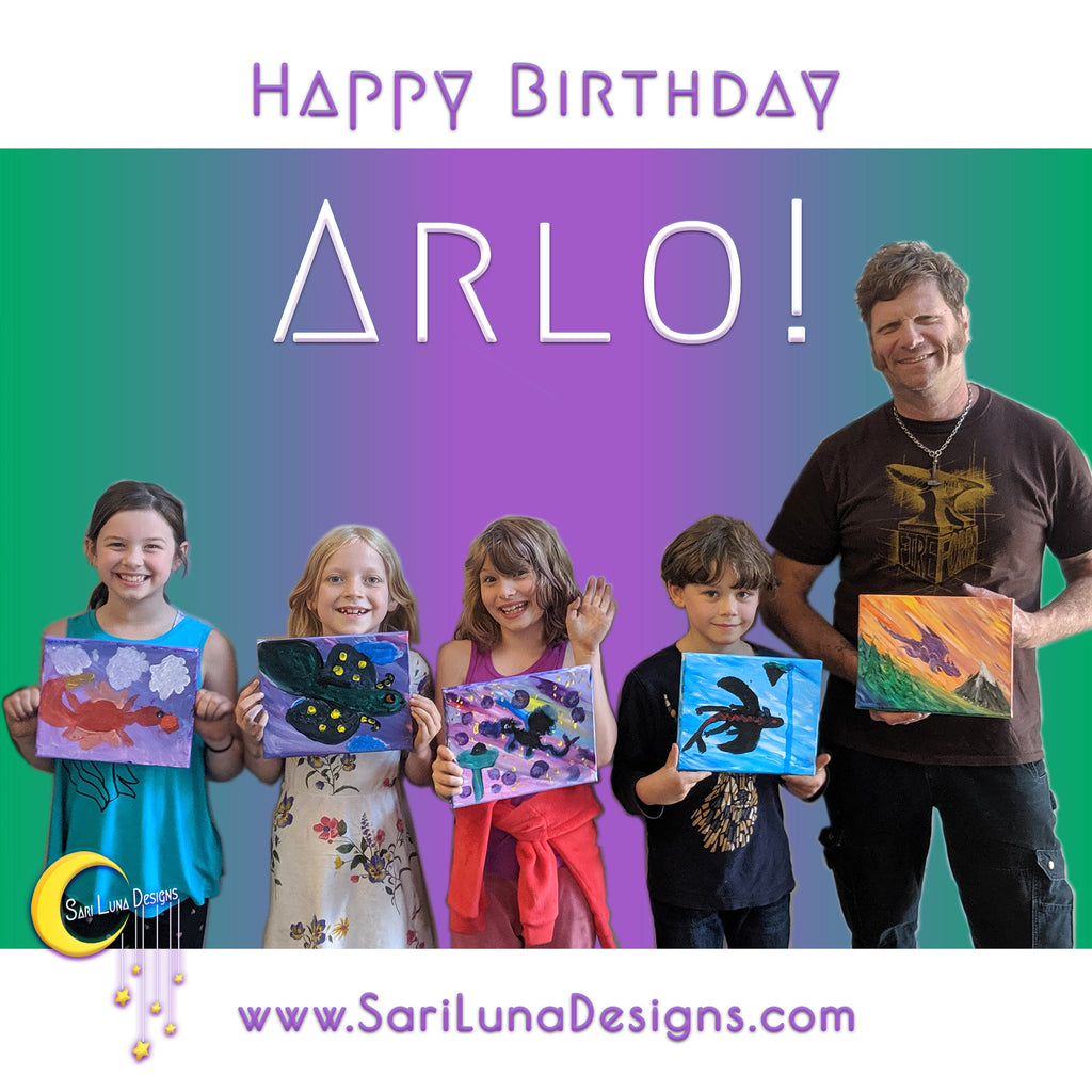 Arlo's Birthday Painting Workshop!