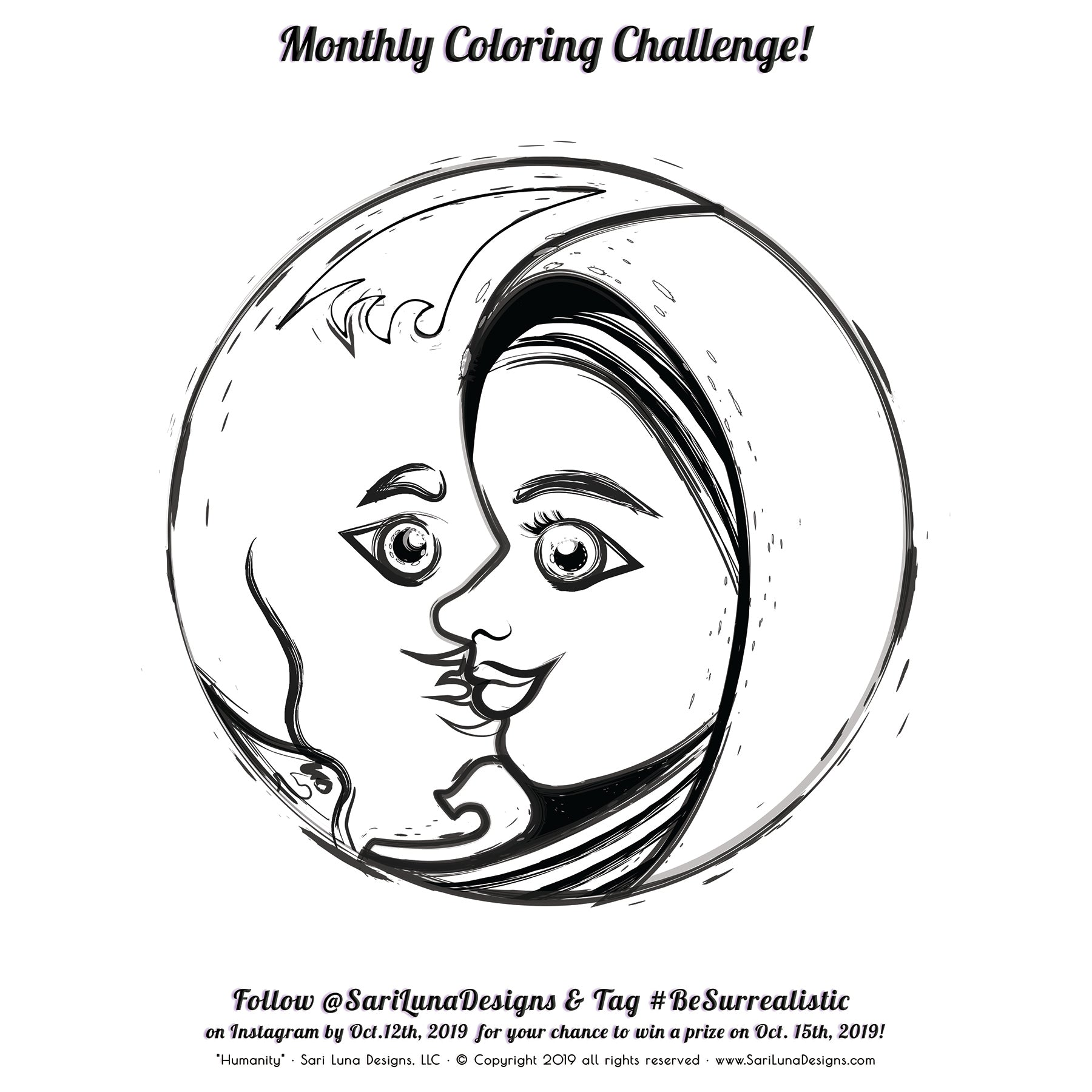 Monthly Coloring Challenge - Humanity