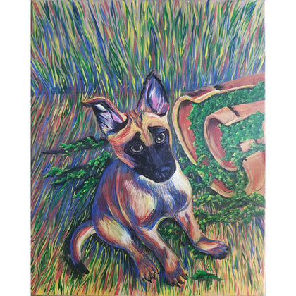 FREE PDF GUIDE - Psychedelic Dog Portrait