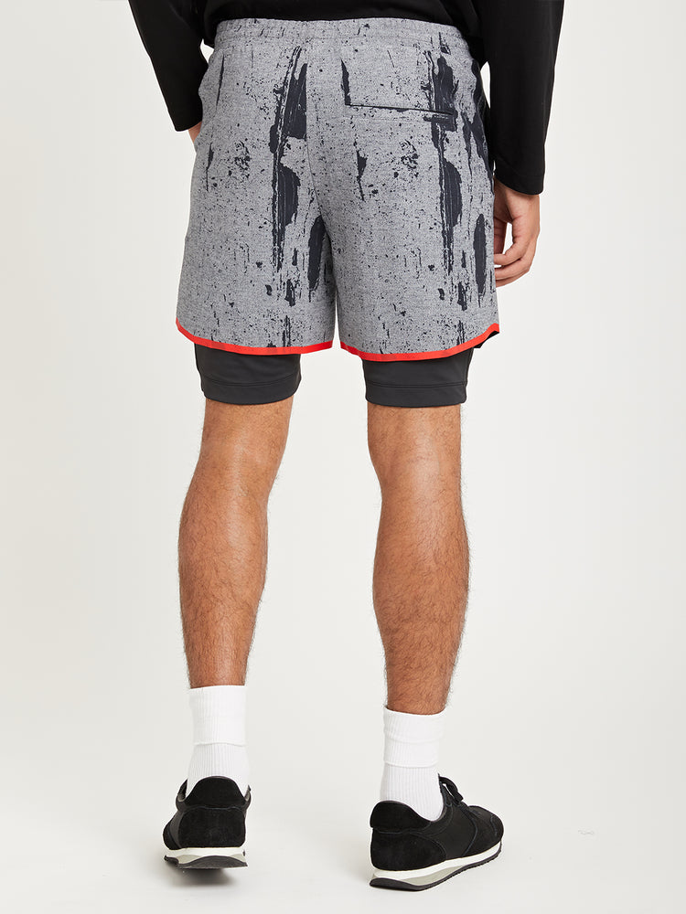 Run Boy Track Short - Tread Camo