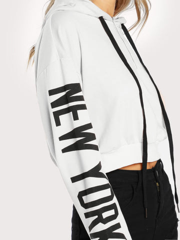 Drop Shoulder New York Hoodie