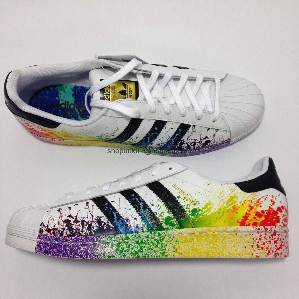 premium selection 4f86d 6be7c superstar rainbow