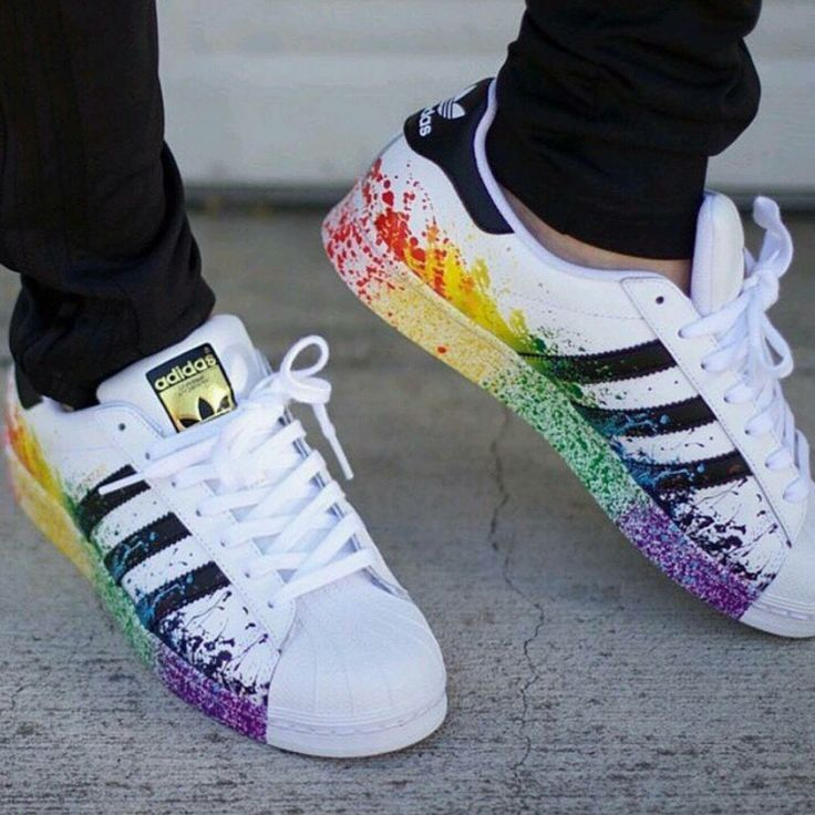 adidas rainbow superstars