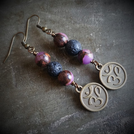 Aromatherapy earrings