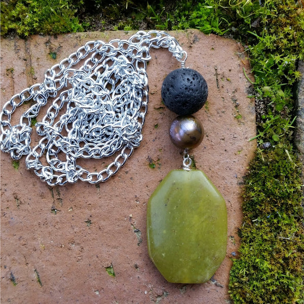 Essential oil diffuser necklace - New Jade