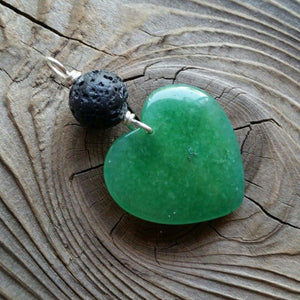 Essential oil diffuser necklace - Amazonite heart pendant