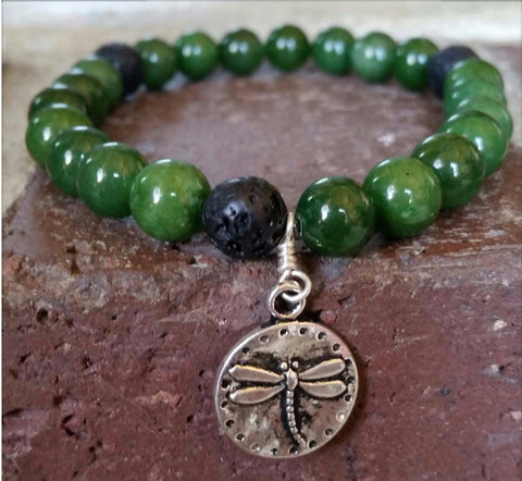 Essential oil diffuser bracelet - Amazonite- Dragonfly - slide