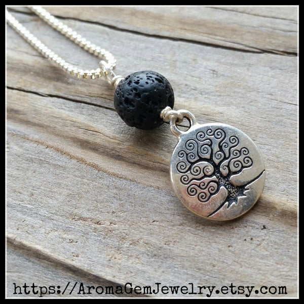 Essential oil diffuser necklaceTree of Life