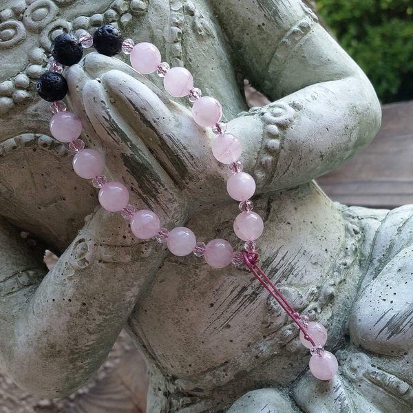 Essential oil diffuser bracelet - rose quartz