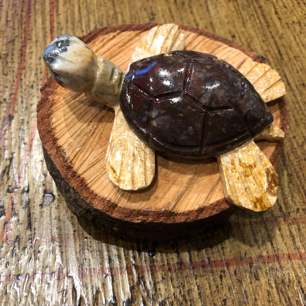 Peru Carved Soapstone Animals - Sea Turtle 3""