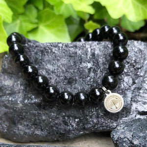 Essential oil diffuser bracelet (Protection)- Black Tourmaline