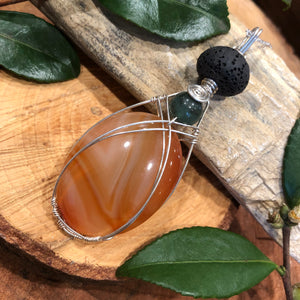 Essential oil diffuser necklace - handmade t