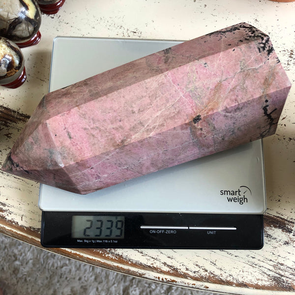 Huge Rhodonite Tower