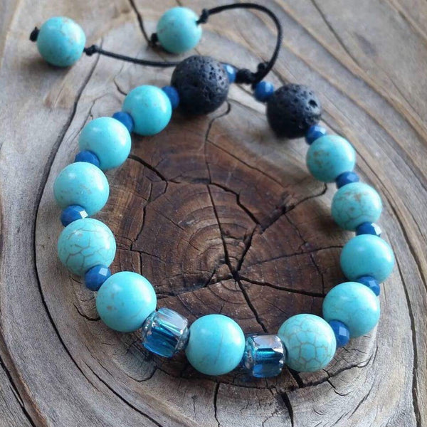Essential oil diffuser bracelet - magnesite - child / small adult