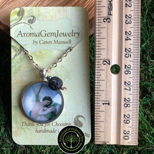 Essential oil diffuser necklace - Angel