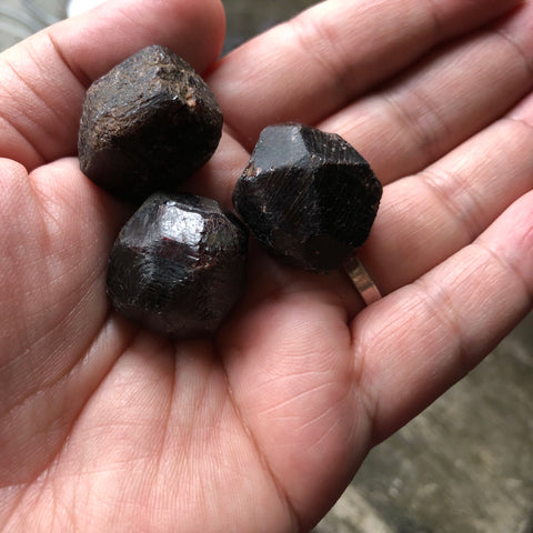 Raw Garnet Crystals -large