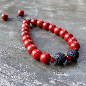 Essential oil diffuser bracelet-red coral (dyed)