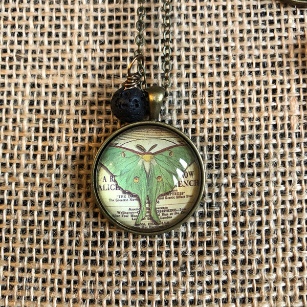 Essential Oil Diffuser Necklace- dragonflies and butterflies