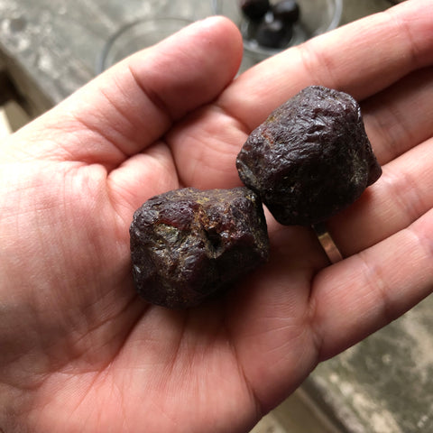 Raw Garnet Crystals -extra large