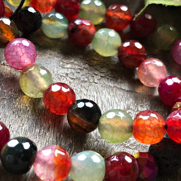 Essential oil diffuser bracelet - dragon vein agate