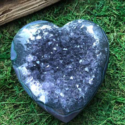 Huge Druzy geode/agate crystal heart
