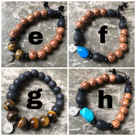 Mens Essential oil diffuser bracelet (1 item)