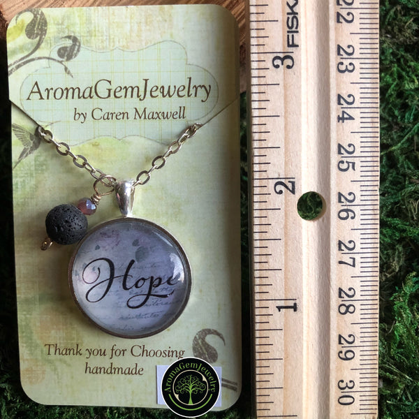 Essential oil diffuser necklace - Hope
