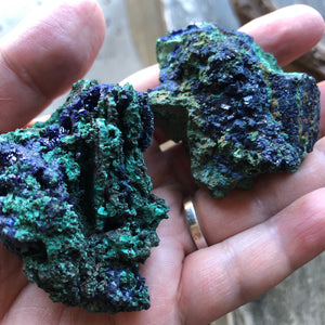 Raw Azurite Crystal - Azurite Malachite Stone - Raw Azurite Stone - healing crystals and stones - Raw Malachite Azurite Crystal