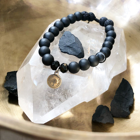 Essential Oil Diffuser Bracelet- Shungite (Protection, Grounding)