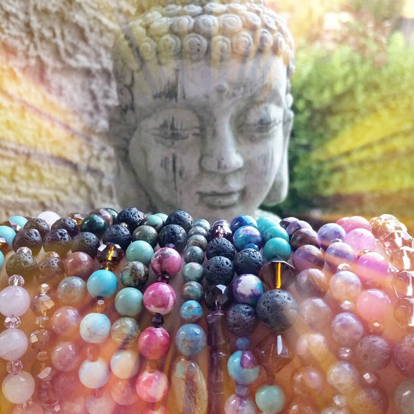 Essential oil diffuser bracelet - magnesite / glass