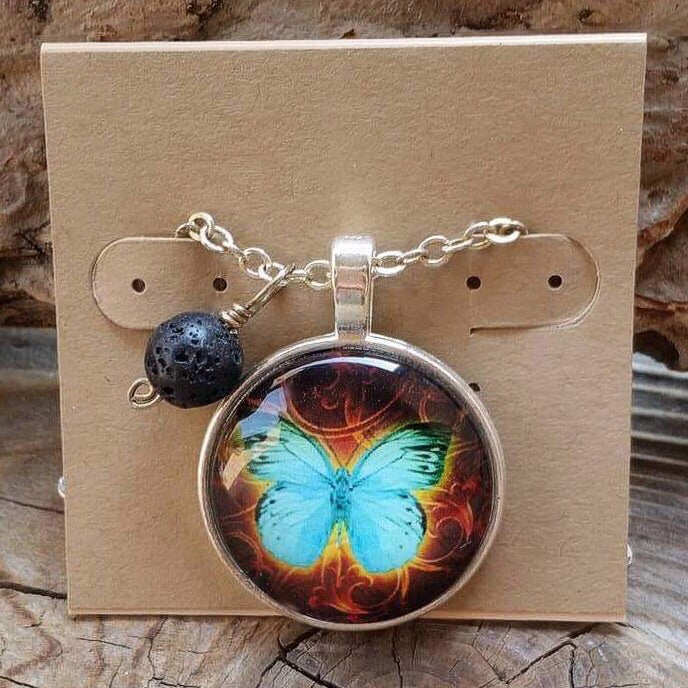 Essential oil diffuser necklace - butterfly