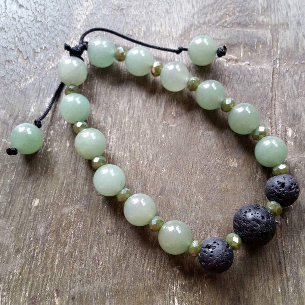 Special order for Colleen- Essential oil diffuser bracelet - Aventurine