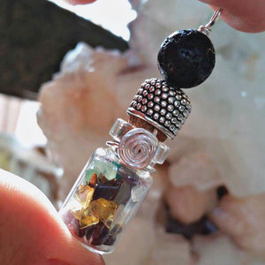 Essential oil diffuser necklace - Chakra capsule