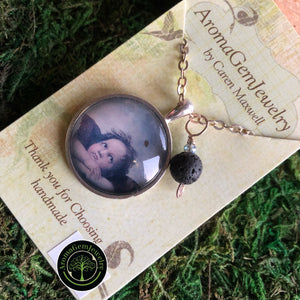 Essential oil diffuser necklace - cupid