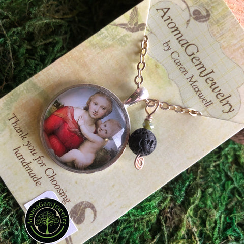 Essential oil diffuser necklace -