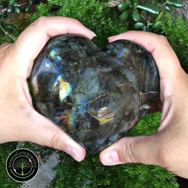 Huge Labradorite Heart