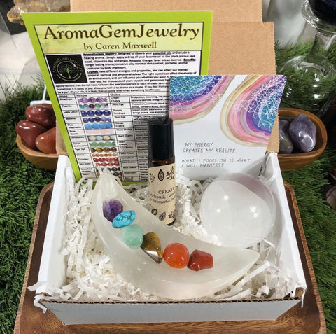 "Affirmation Gift Set: ""MY ENERGY CREATES MY REALITY. WHAT I FOCUS ON IS WHAT I WILL MANIFEST"""