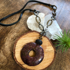 Essential oil diffuser necklace- Jasper