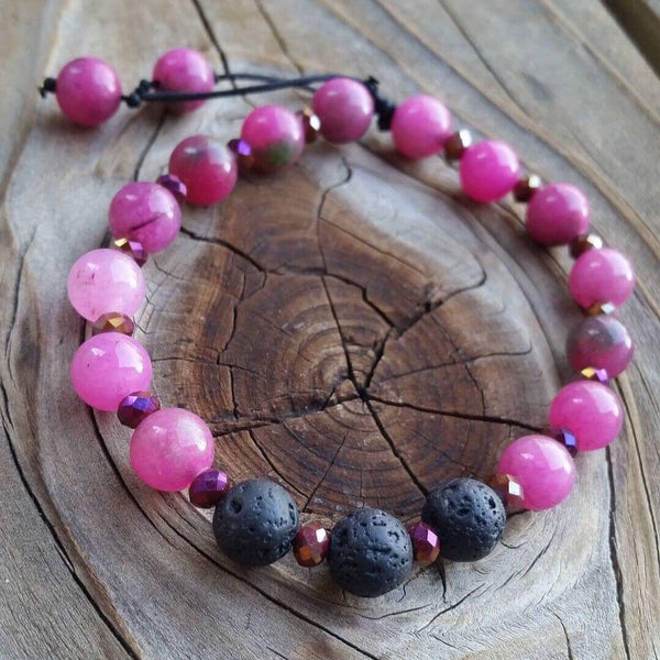 Essential oil diffuser bracelet - dyed crystal