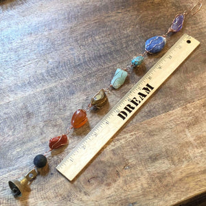 Essential oil diffuser - chakra stone suncatcher, wind chime