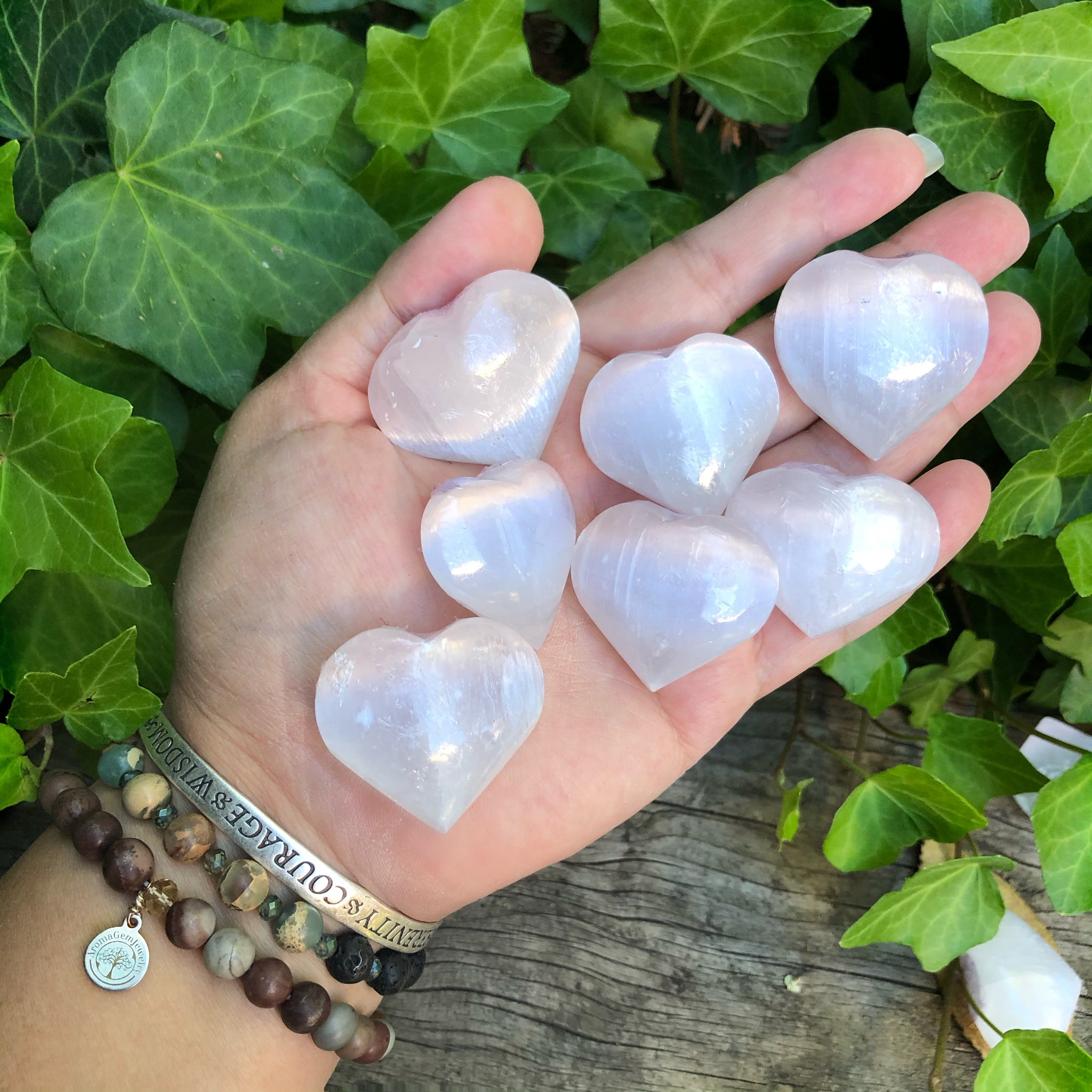 Selenite Heart (sold in lot of 1, 3, 5, 10