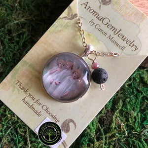 Essential oil diffuser necklace - Angels