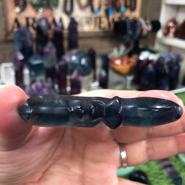 Highest quality Large Flourite hand carved moon