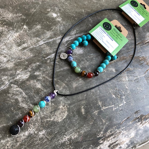 Essential oil diffuser necklace - Chakra - set
