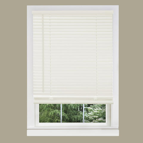 Blinds, 35 in. W x 64 in. L Alabaster 1 in. Vinyl Blind