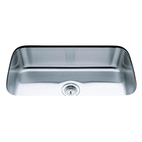 Undertone Undercounter Stainless Steel 32 in. Single Bowl Kitchen Sink