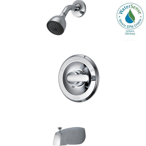 Classic Single-Handle 1-Spray Tub and Shower Faucet 134900 in Chrome (Valve Included)
