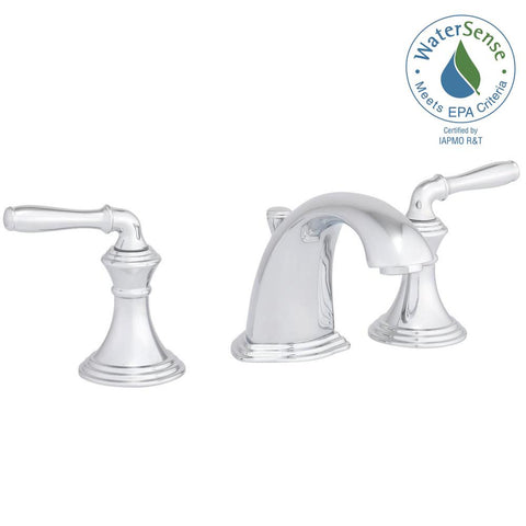 Faucet, bathroom, Devonshire 8 in. Widespread 2-Handle Low-Arc in Polished Chrome 394-4-cp