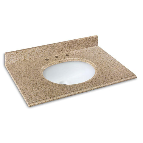 Vanity Top 37 in. Granite in Beige with White Basin #143 904