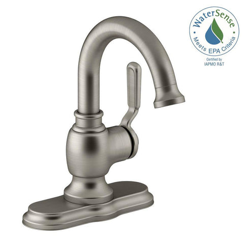Faucet, Worth Single Hole 1-Handle Bathroom Faucet 1001-637-185 in Vibrant Brushed Nickel